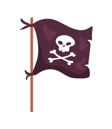 pirate flag waving Vettoriali