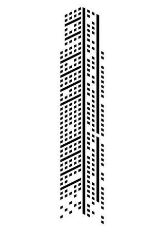 building skyscraper monochrome