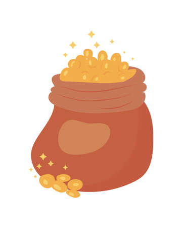 treasure sack with coins