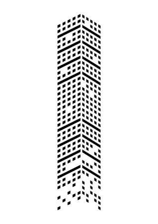 building monochrome icon