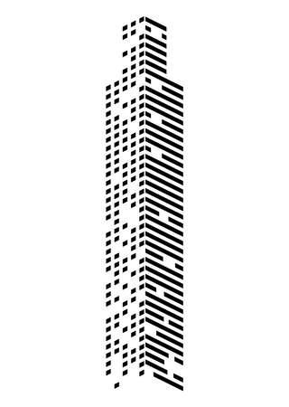 skyscraper monochrome facade Vettoriali