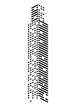skyscraper monochrome style