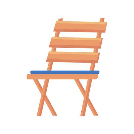 wood chair garden Vettoriali