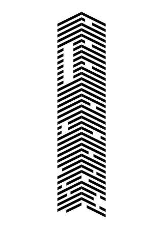 building monochrome front