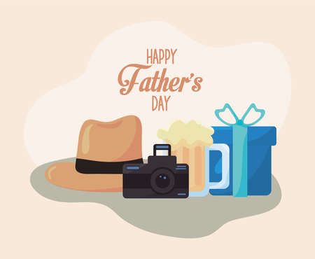 fathers day icons Vettoriali