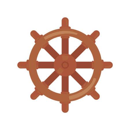 wooden ship rudder Vettoriali