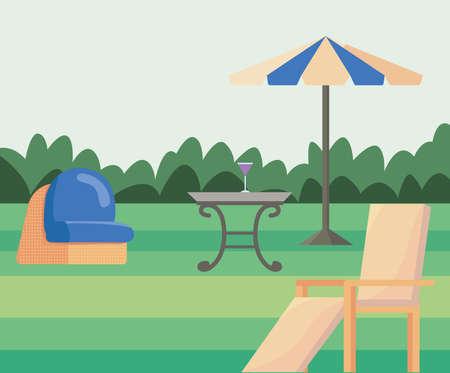 garden landscape scene