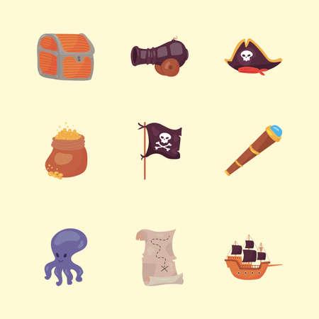 nine pirate icons