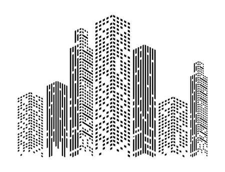 monochrome buildings facades