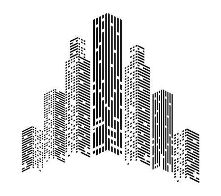 monochrome buildings front