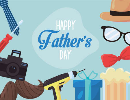 fathers day frame Vettoriali