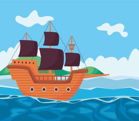pirate seascape scene