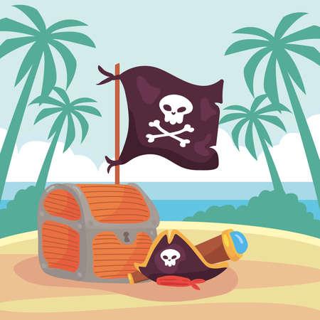 beach pirate scene