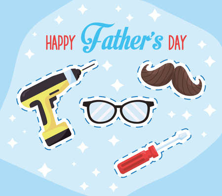 fathers day lettering Vettoriali