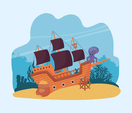 aground pirate boat