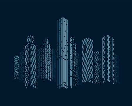 buildings cityscape facades