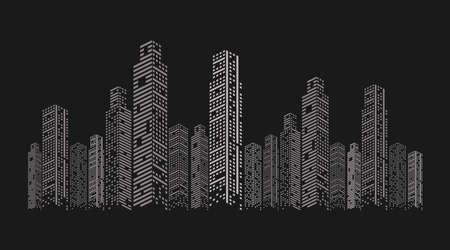white buildings facades