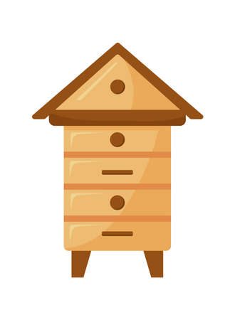 wooden beehives structure