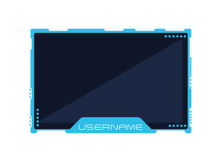 blue streaming template Ilustración de vector