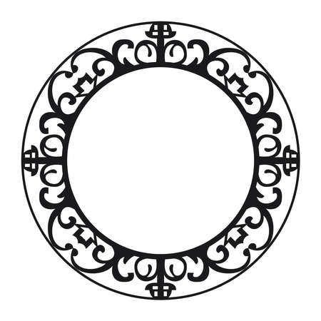 circular emblem frame