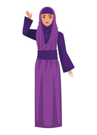 purple muslim woman