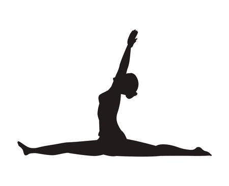monkey yoga position Ilustración de vector