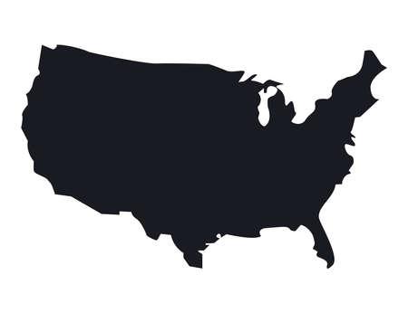 usa map silhouette Vecteurs