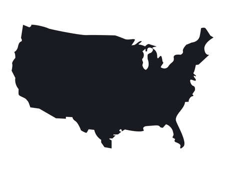 usa map silhouette Vetores
