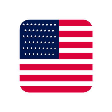usa flag square