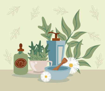 aromatherapy with oil Vetores