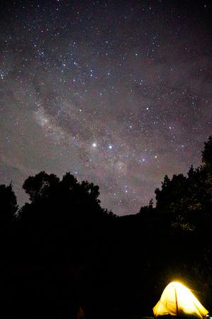 milky way: Milky Way at Papandayan Stockfoto