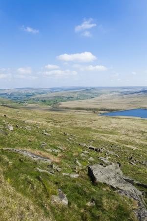 Rocky West Yorkshire Moorland Landscape Outdoor Scene