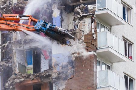 regeneration: I lavori di costruzione demolire appartamenti grattacieli significare abitazioni e rigenerazione