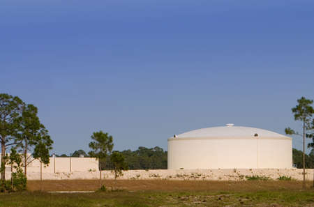 Newly constructed water utility storage tank