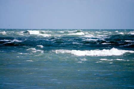 Rough waves of the Atlantic ocean during windstorm