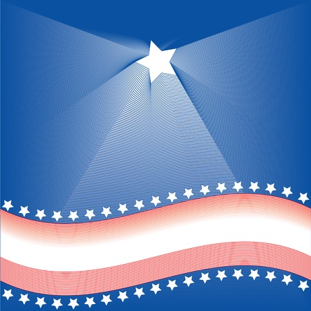 American themed background of red white and blue stars and stripes with copy space.