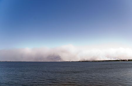 Florida east coast wild fires from water