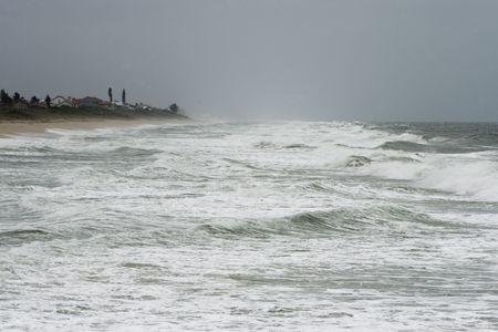Rough Atlantic Ocean surf on stormy day Banco de Imagens