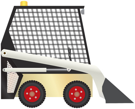 illustration of compact tractor equipment