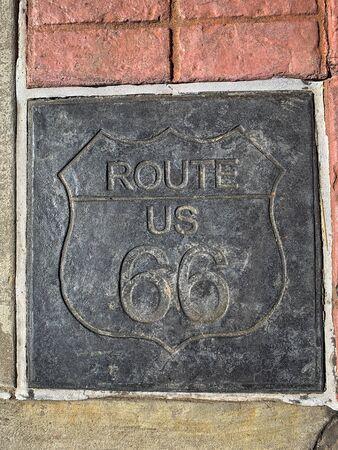 Route 66 road sign Stock fotó