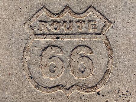 Route 66 concrete marker