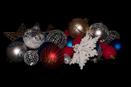 Christmass tree decoration isolated on black Stock Photo
