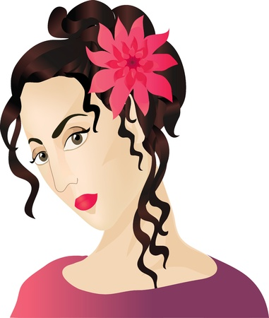 vamp: A beautiful woman Illustration