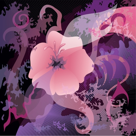 Beautiful picturesque flower background Stock Vector - 12482489
