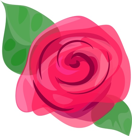 pastiche: Beautiful picturesque rose  Illustration