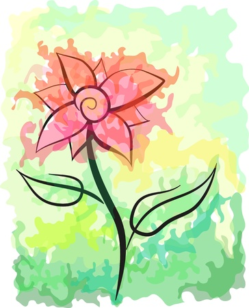 Picturesque abstract flower