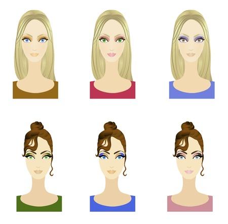 make up: Ensemble de soir�e � la mode belle constituent des motifs. Ep. s10