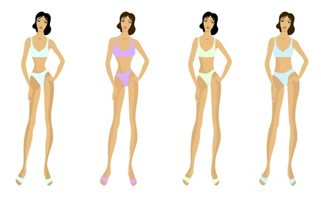 Different types of woman figure