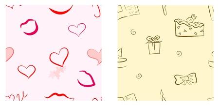 Holiday seamless pattern set  Valentine