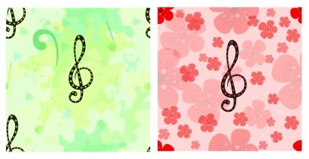 clave de fa: Sin patr�n musical creado con la decorativa clave de sol, clave de fa y notas